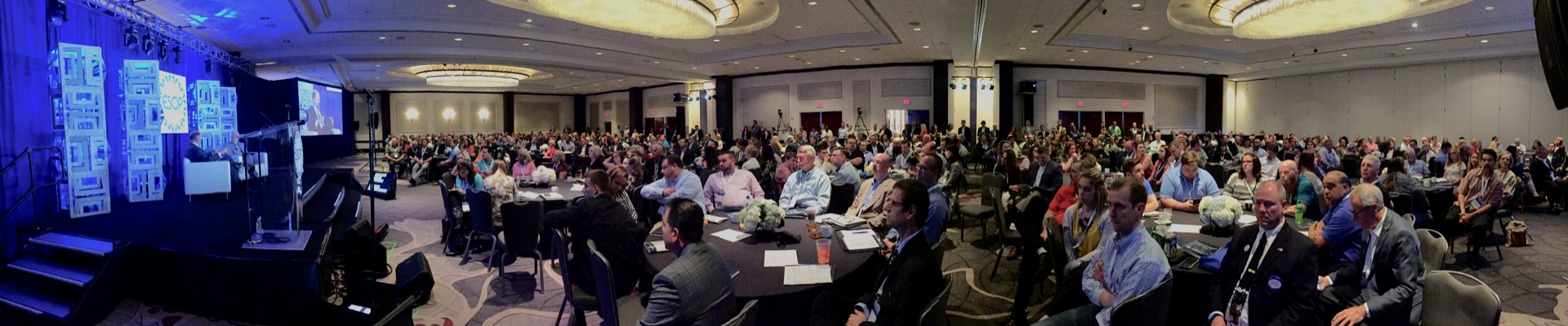 A panoramic view of the sold out crowd for 2019's ESOP Association National Conference