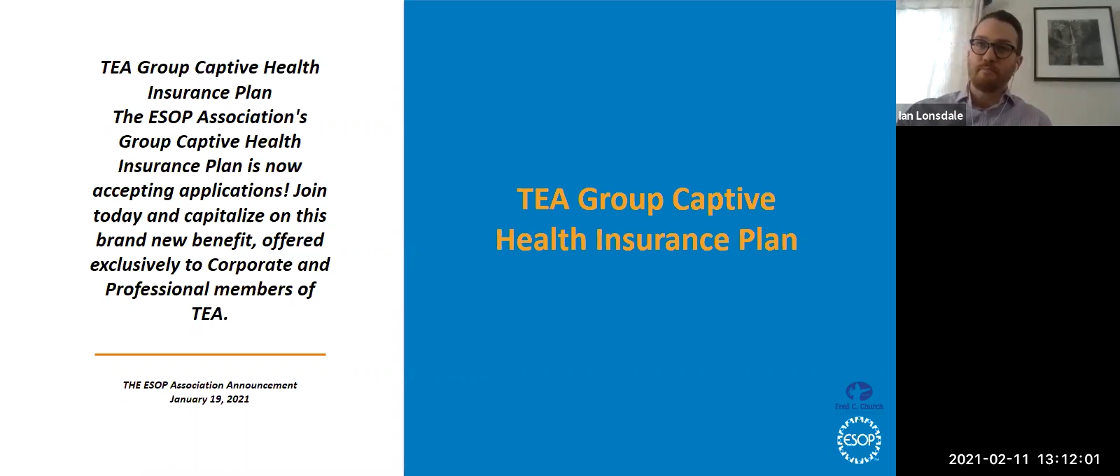 TEA Group Captive Health Insurance webinar